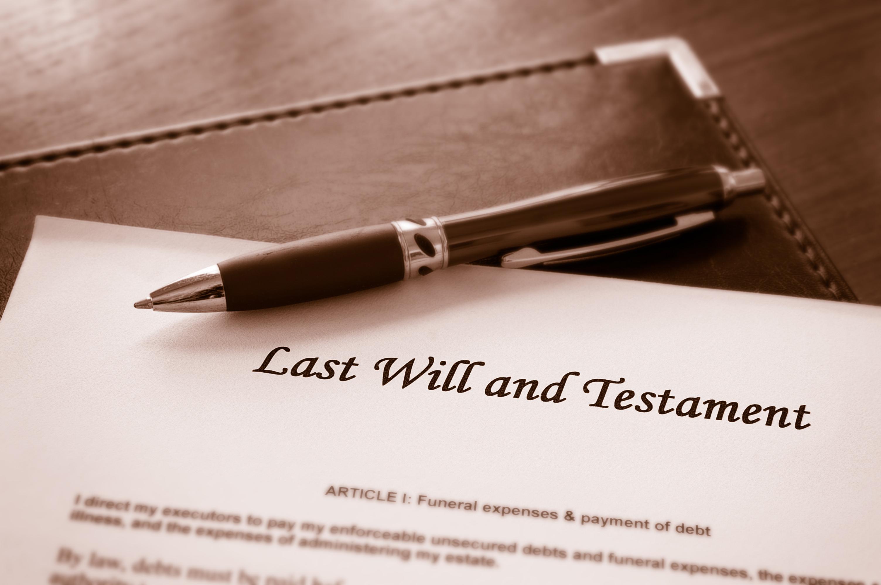 Will document (Shutterstock)