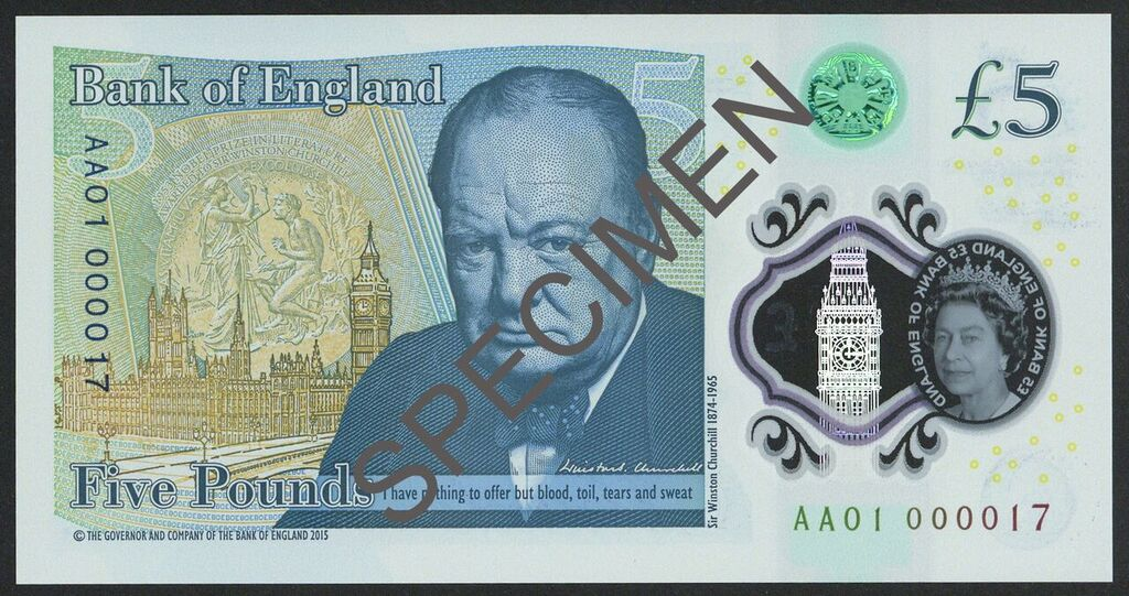 Rare New 5 Note Image Spink Sons