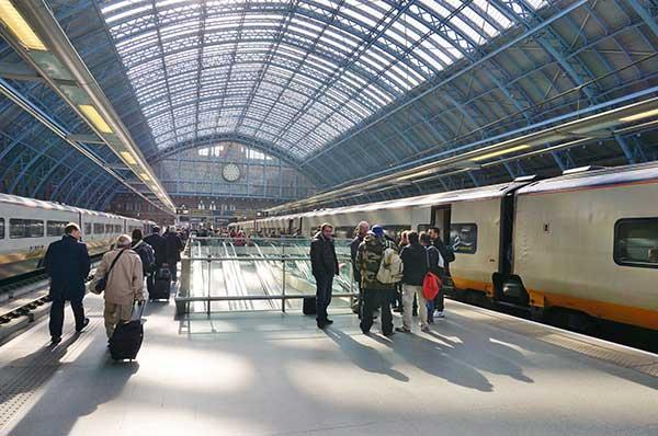 Eurostar at London St Pancras. (Image: Shutterstock)