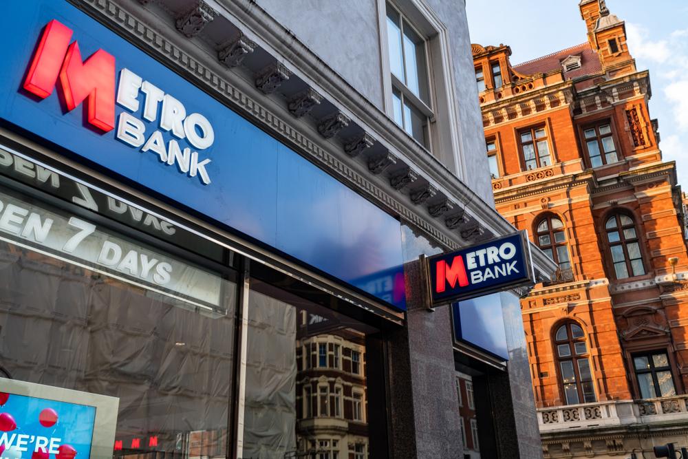 Metro Bank. (Image: Shutterstock/ChrisGhinda)