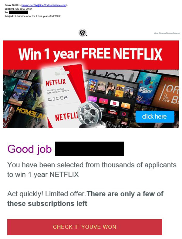 Netflix free trial scam warning: fake '1 year subscription