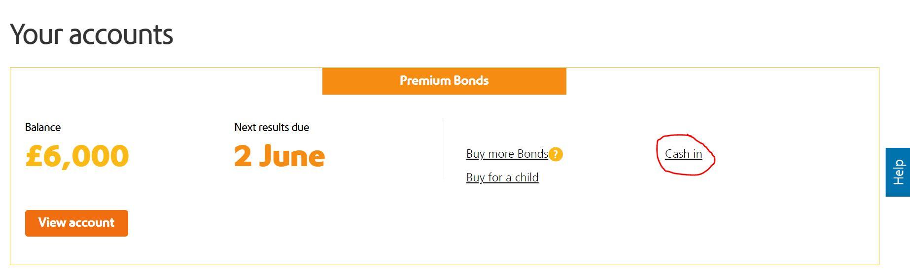 How to cash in Premium Bonds online (Image: NS&I-loveMONEY)