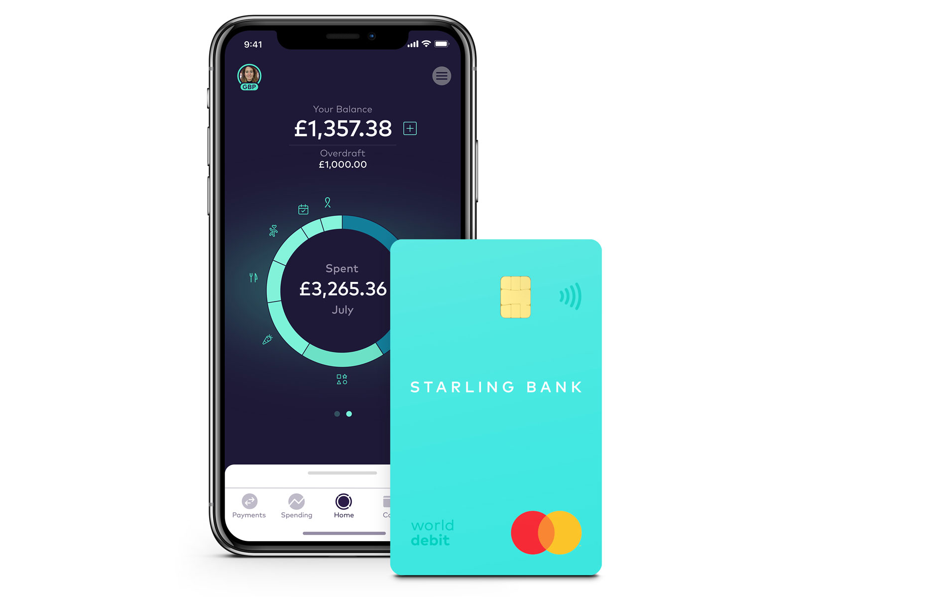 Starling Bank's account lets you round up your spending into a savings account (Image: Shutterstock)