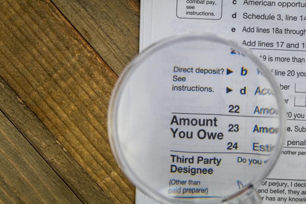 Tax owed (Image: Shutterstock)