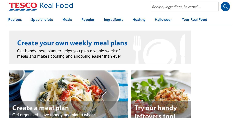 Tesco meal planner (Image: Tesco)