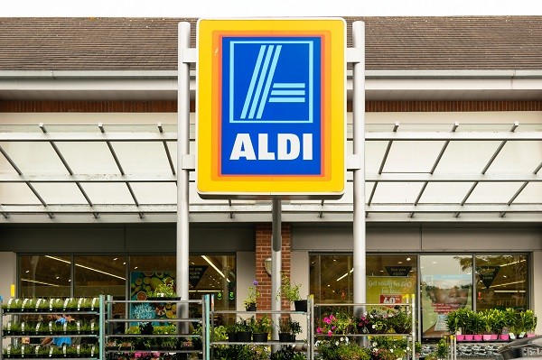 Front of an Aldi store. (Image: Shutterstock)