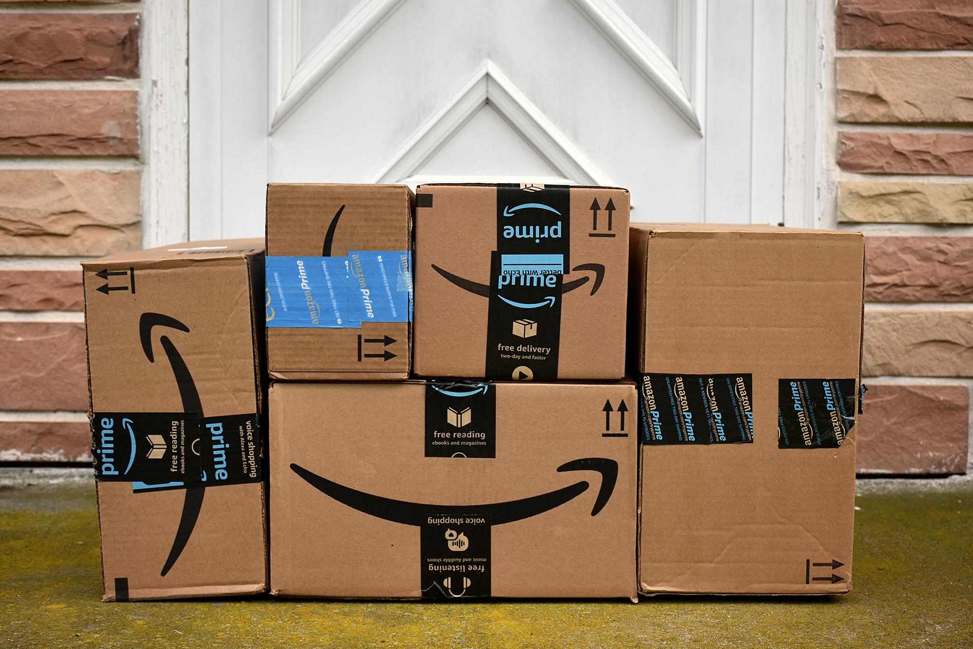 Amazon Prime parcels. (Image: Julie Clopper/Shutterstock)
