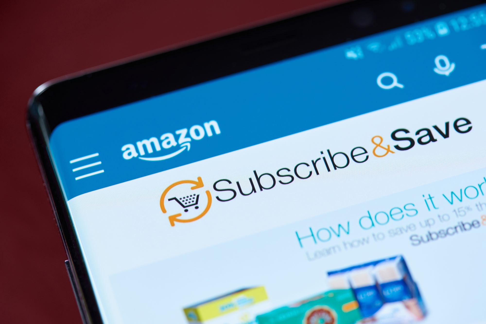 Amazon Subscribe & Save. (Image: PixieMe/Shutterstock)