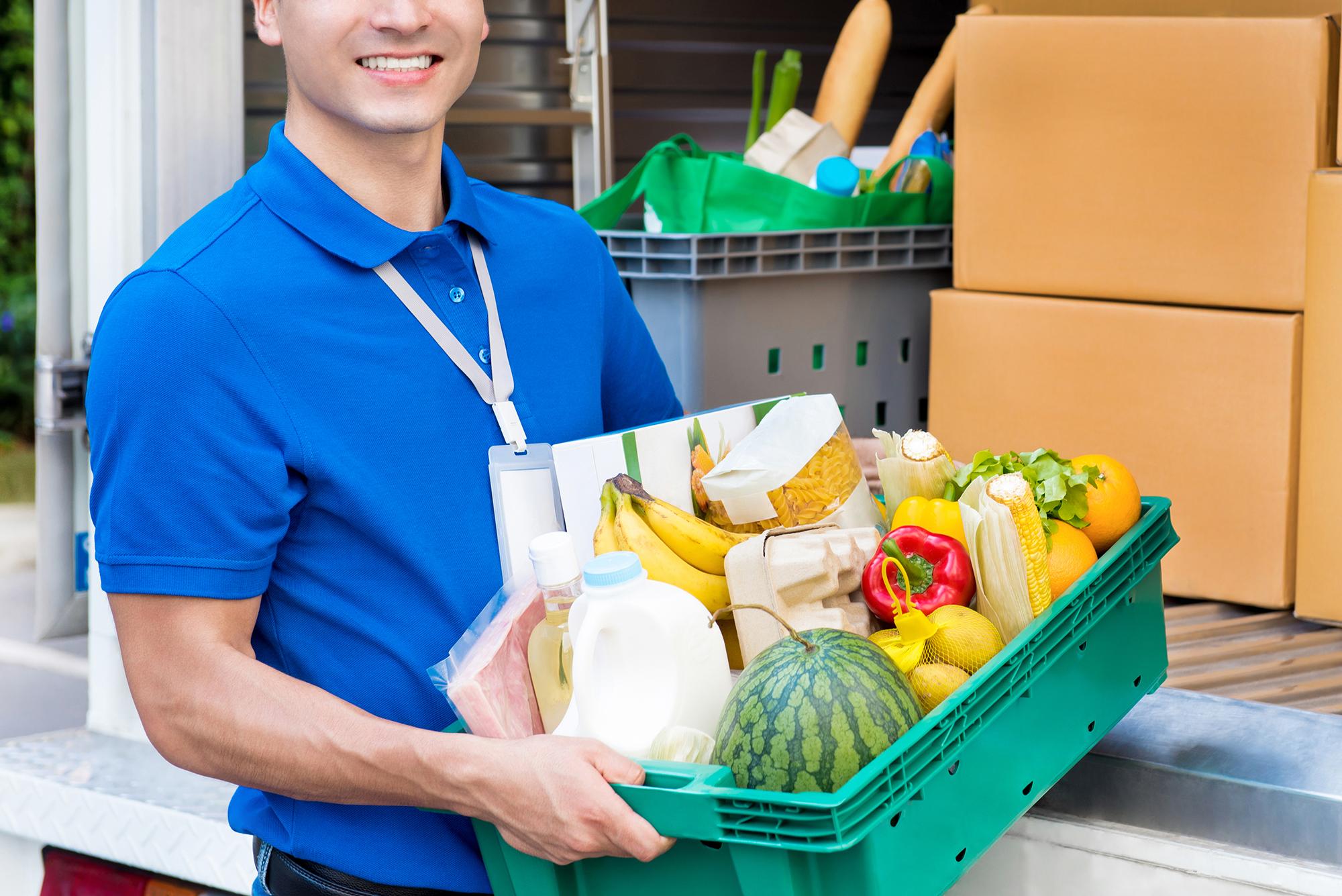 Driver delivering groceries. (Image: Shutterstock)
