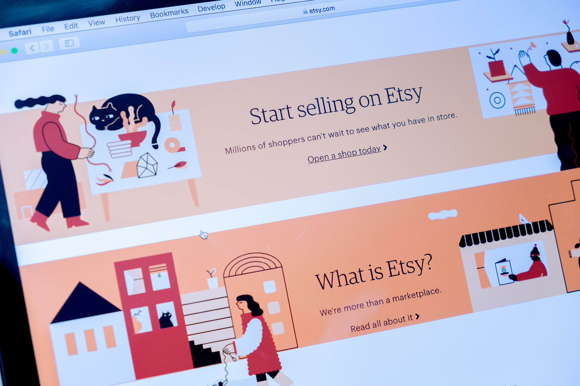 Etsy website. (Image: Shutterstock/justplay1412)