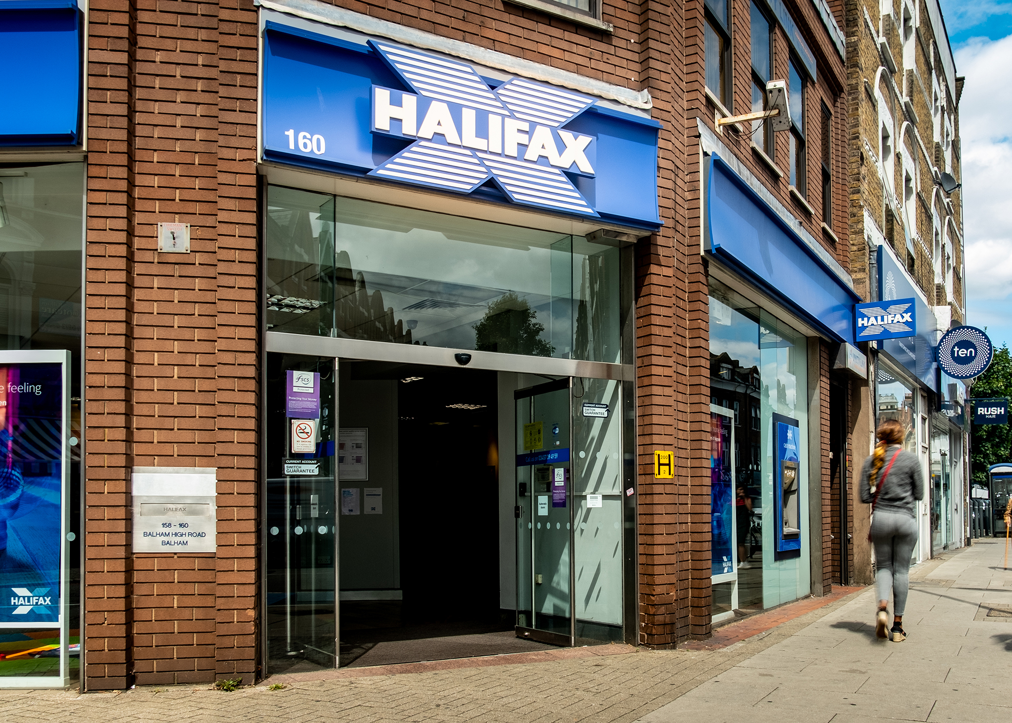 A Halifax bank branch. (Image: Willy Barton/Shutterstock)