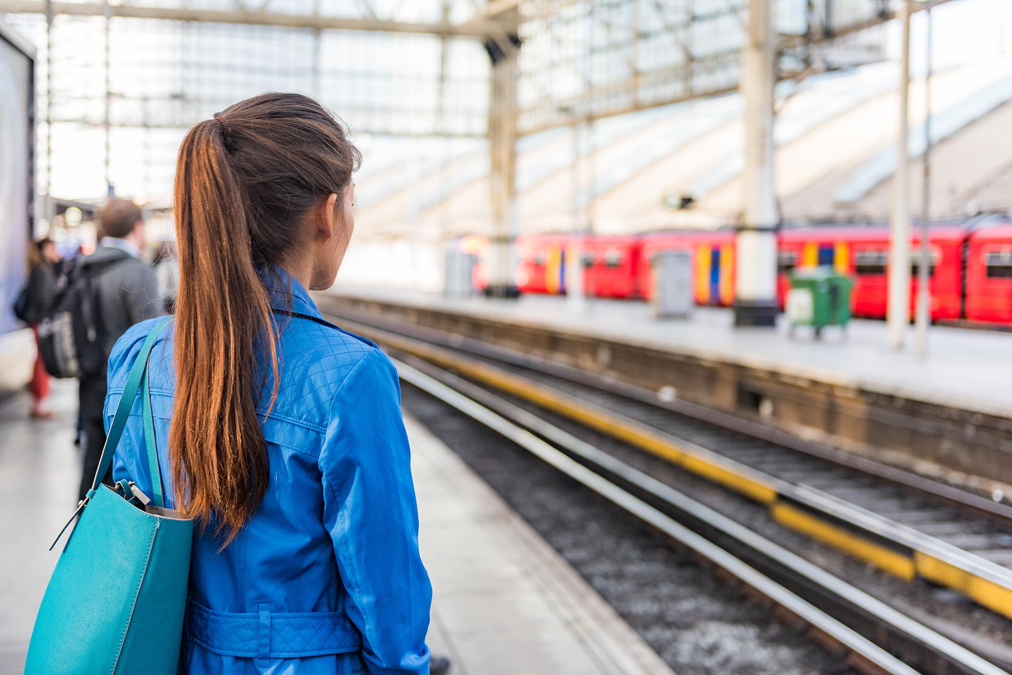 Woman waiting for train. (Image: Shutterstock)