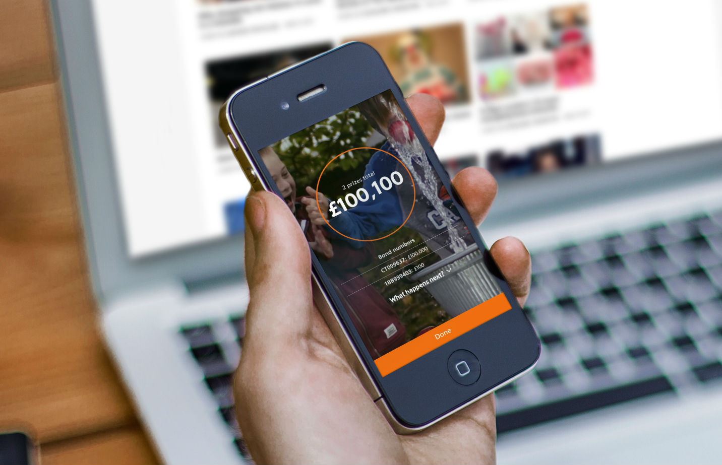 Premium Bonds app. (Image: NS&I)
