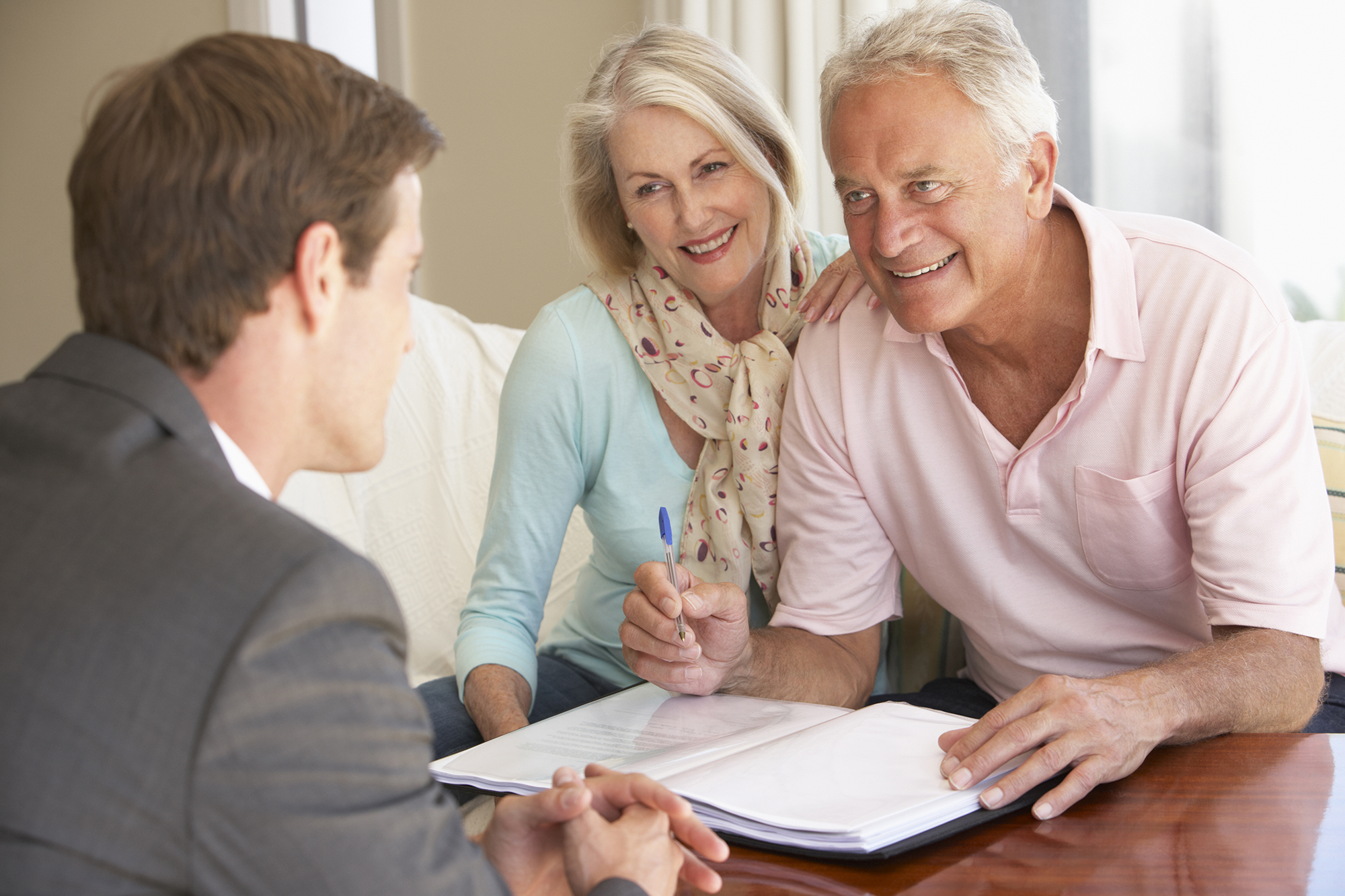 A couple getting financial advice. (Image: Shutterstock)