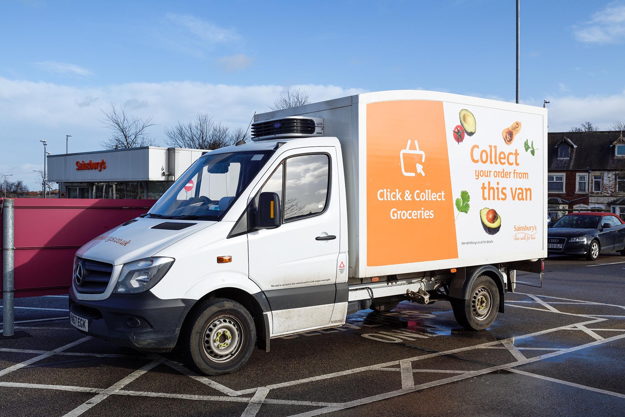 Sainsbury's Click & Collect van. (Image: Ian Francis/Shutterstock)