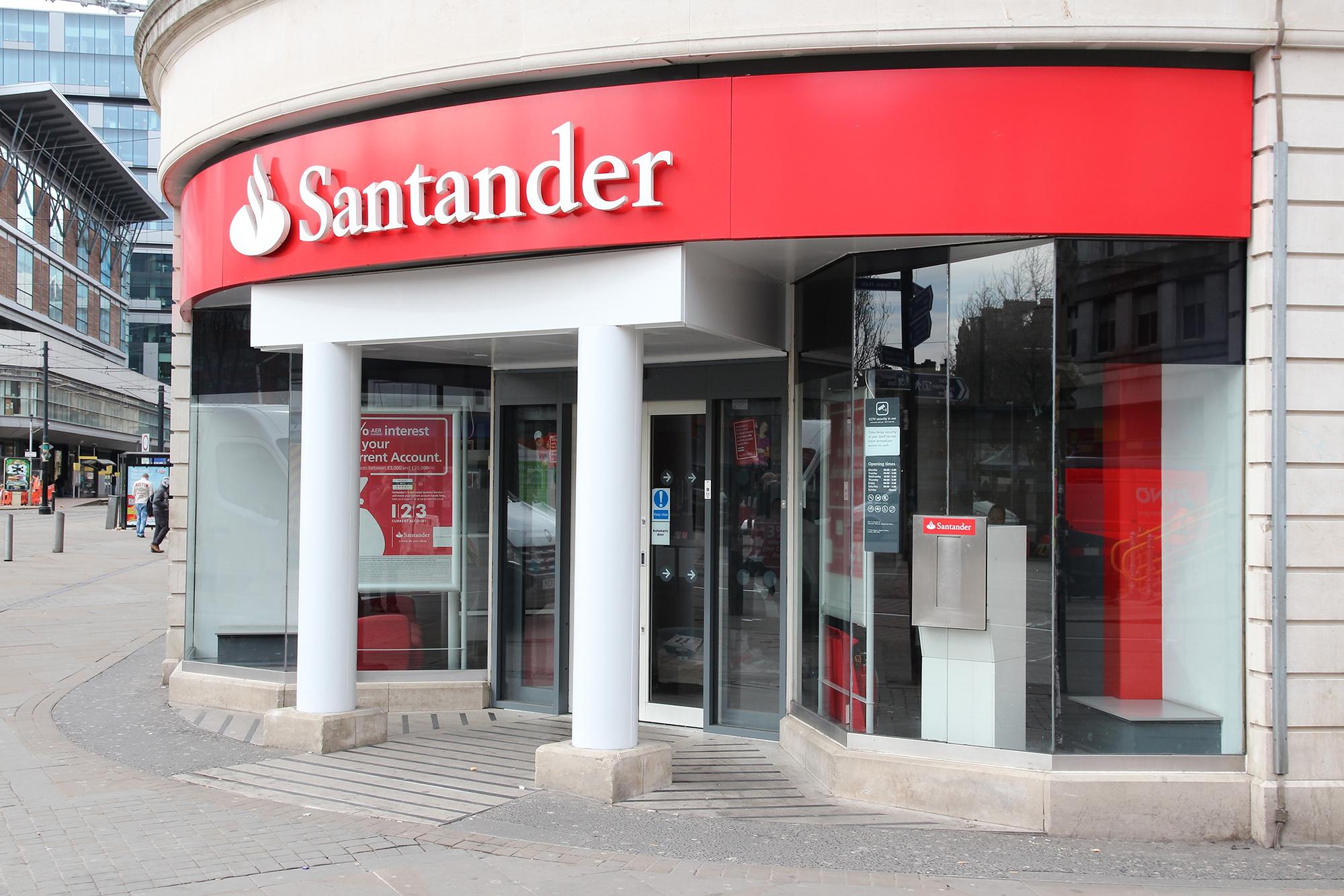 A Santander branch. (Image: Tupungato/Shutterstock)