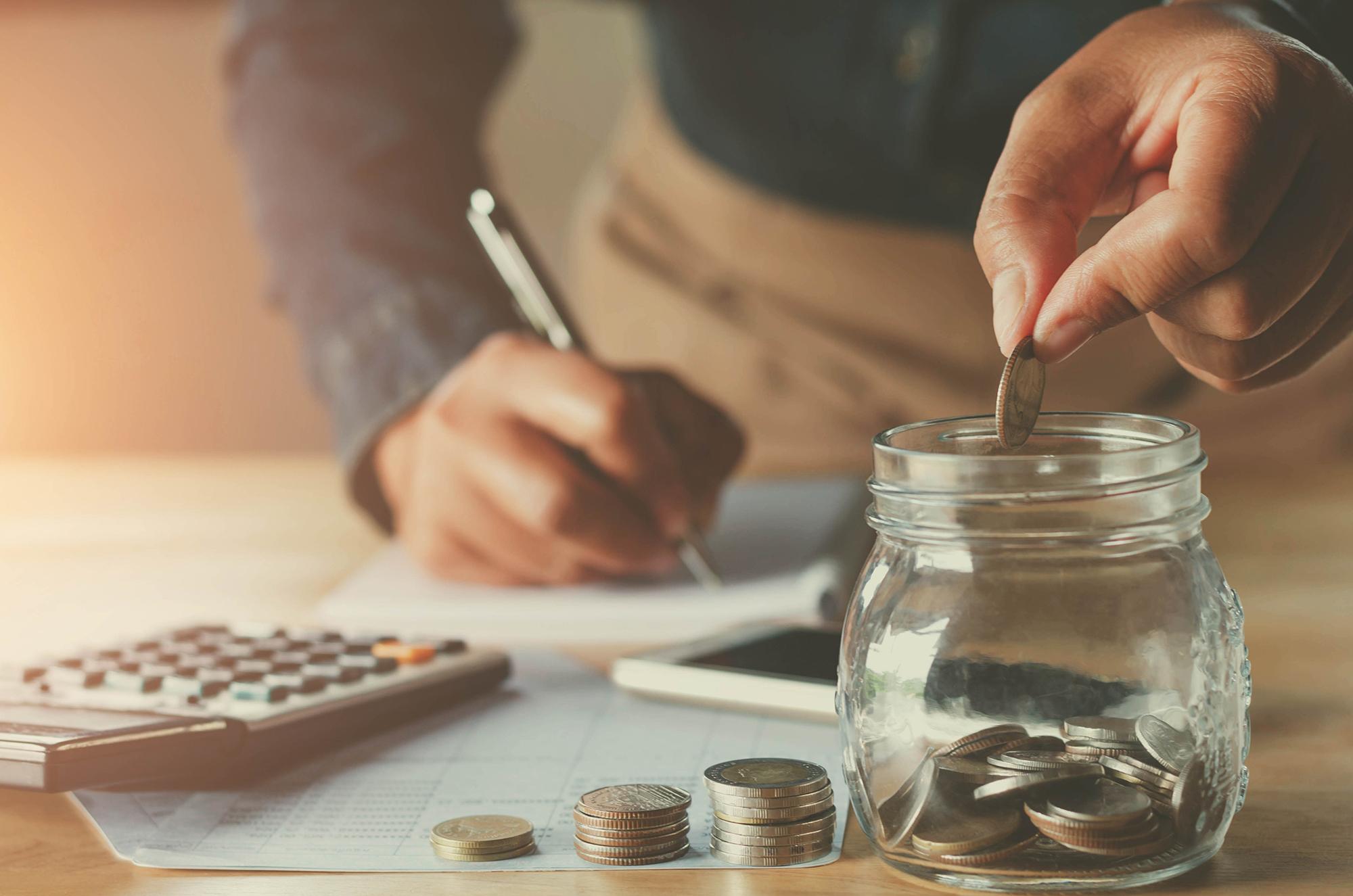 Man saving money. (Image: Shutterstock)