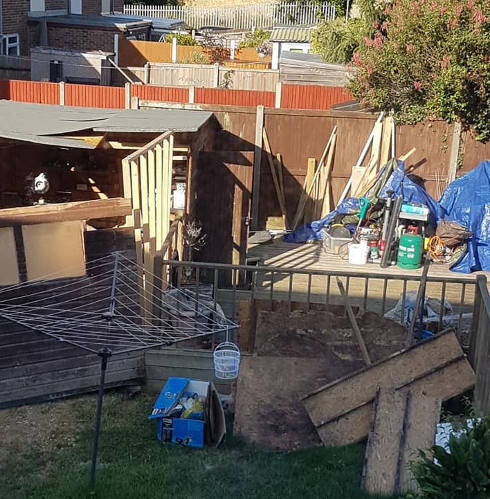 The mess the rogue builders left. (Image: Sally Berry/Kurtis Atherden)