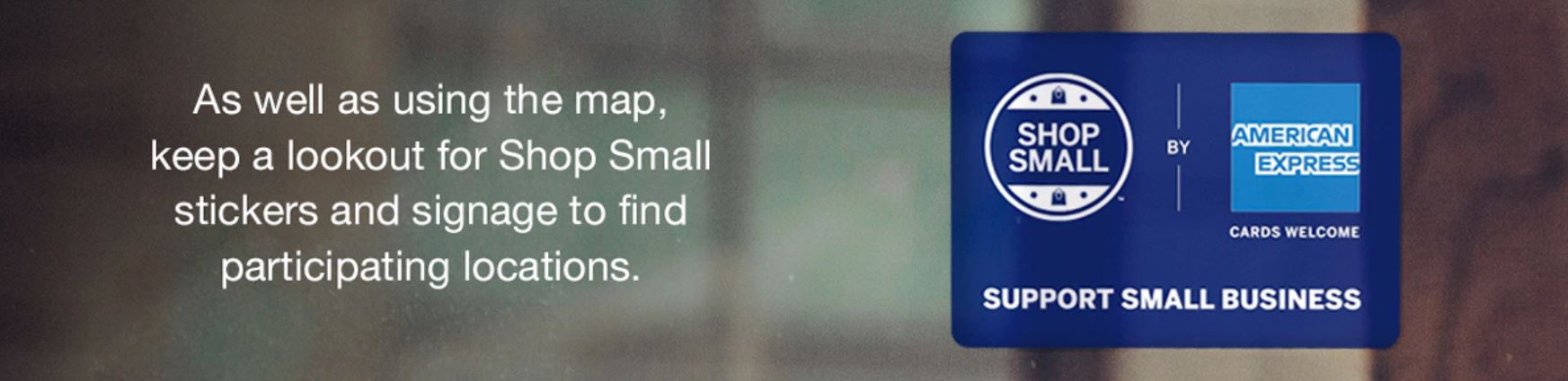 Amex Shop Small promotion (Image: Amex)