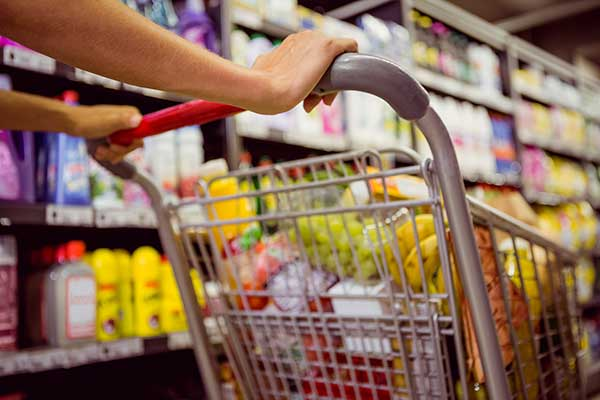 A full shopping trolley. (Image: Shutterstock)