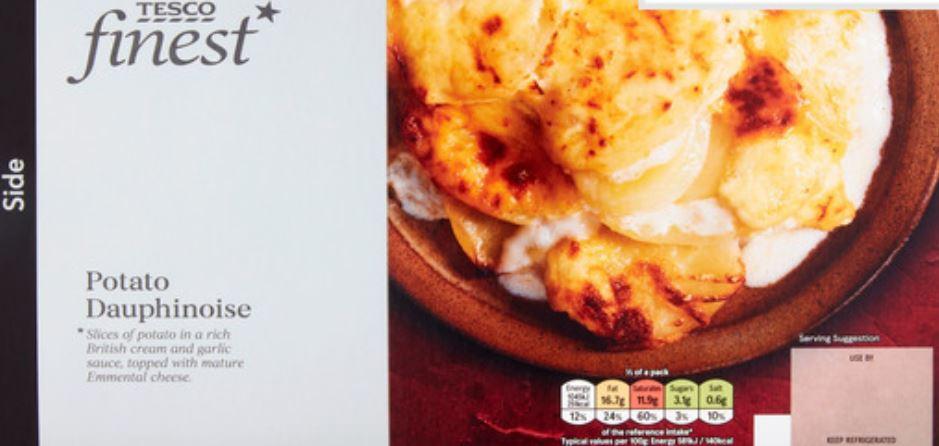 Tesco Finest potato dauphinoise. (Image: Tesco)