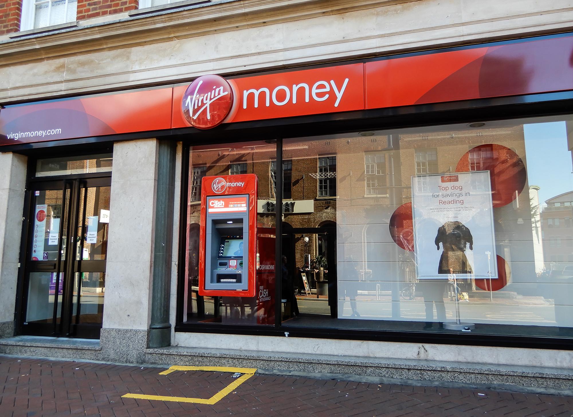 Virgin Money store. (Image: Shuttestock/Roger Utting)