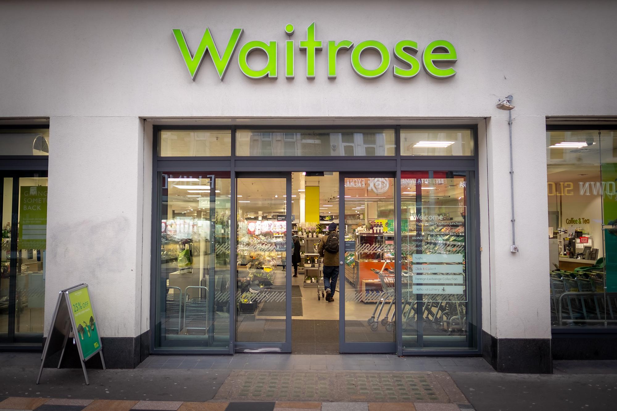Waitrose supermarket. (Image: Willy Barton/Shutterstock)