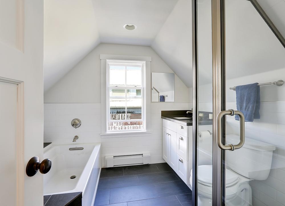 Charming Awkward Shaped Bathroom