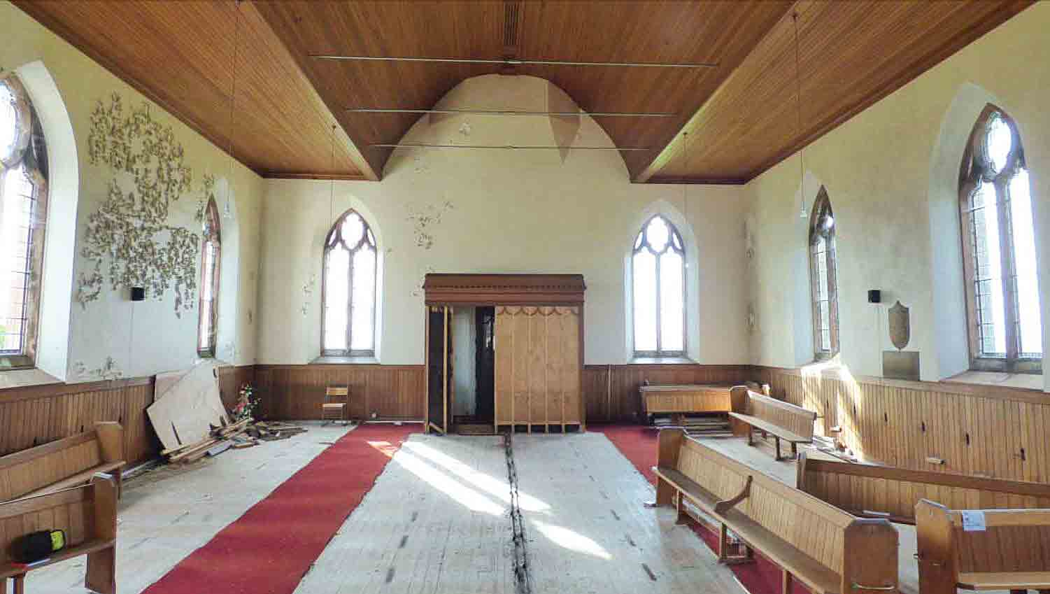 While cosmetic repairs are needed, the structure is in good shape. Image: The Church of Scotland