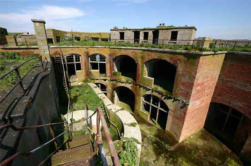 The fort is in dire need of repairs but many of its period features are still standing. Image: FBM Estate Agents