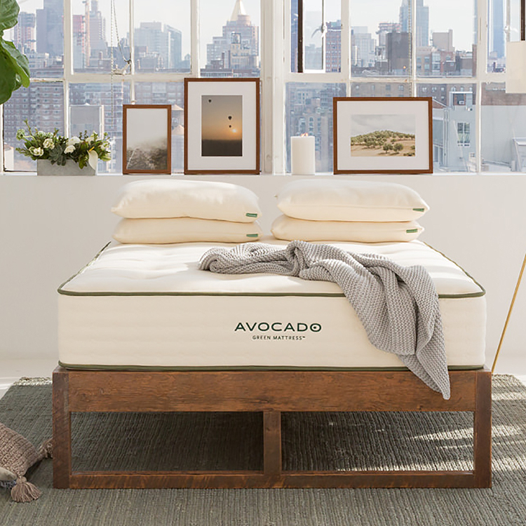 Green mattresses by Avocado. Image: Avocado