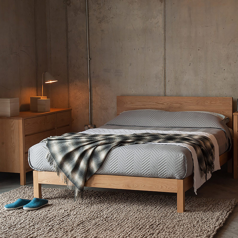 Oak bed from FCA forests. Image: The Natural Bed Company