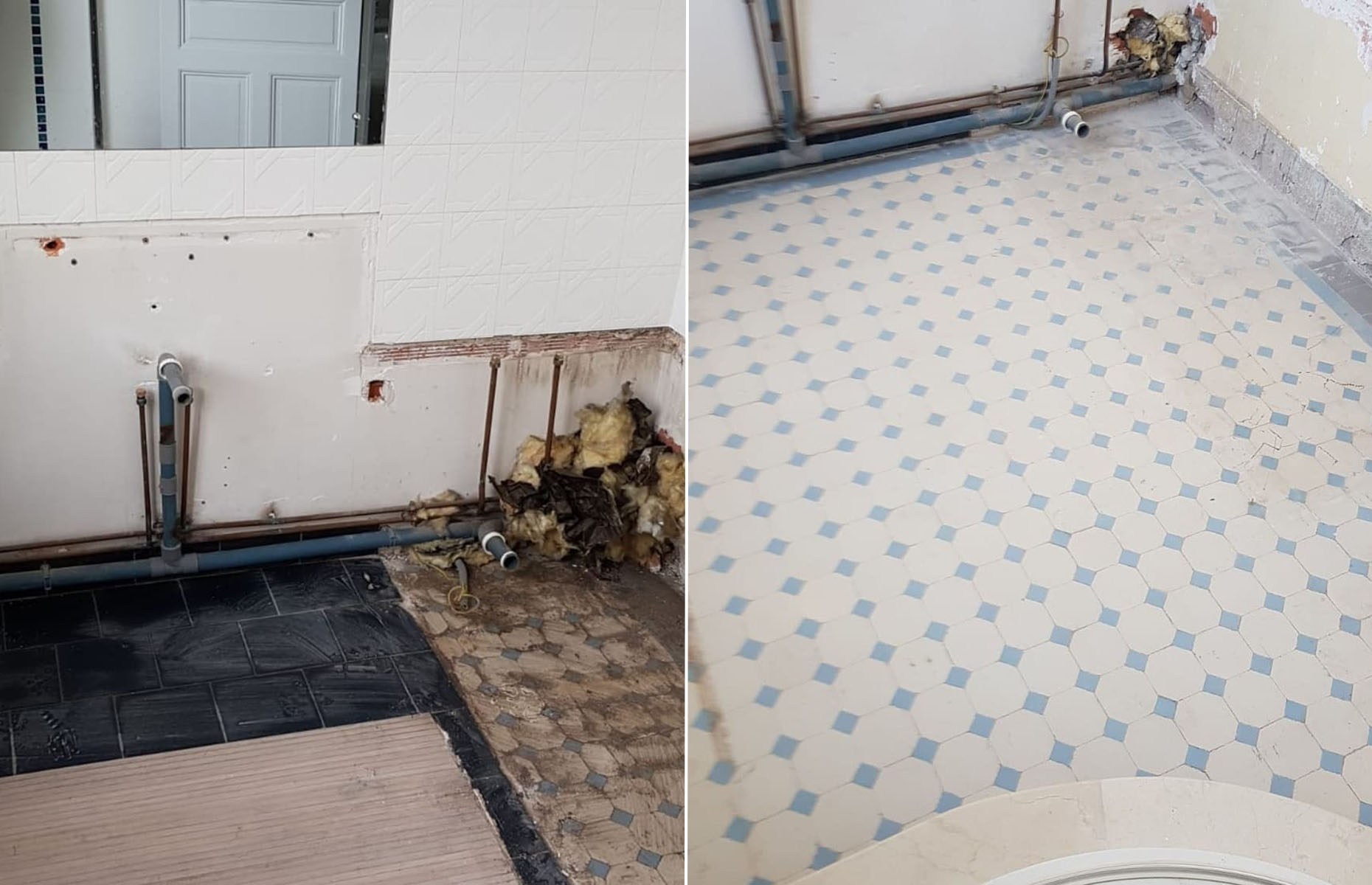 These beautiful tiles were uncovered beneath two layers of flooring. @la_maison_trumeau / Instagram