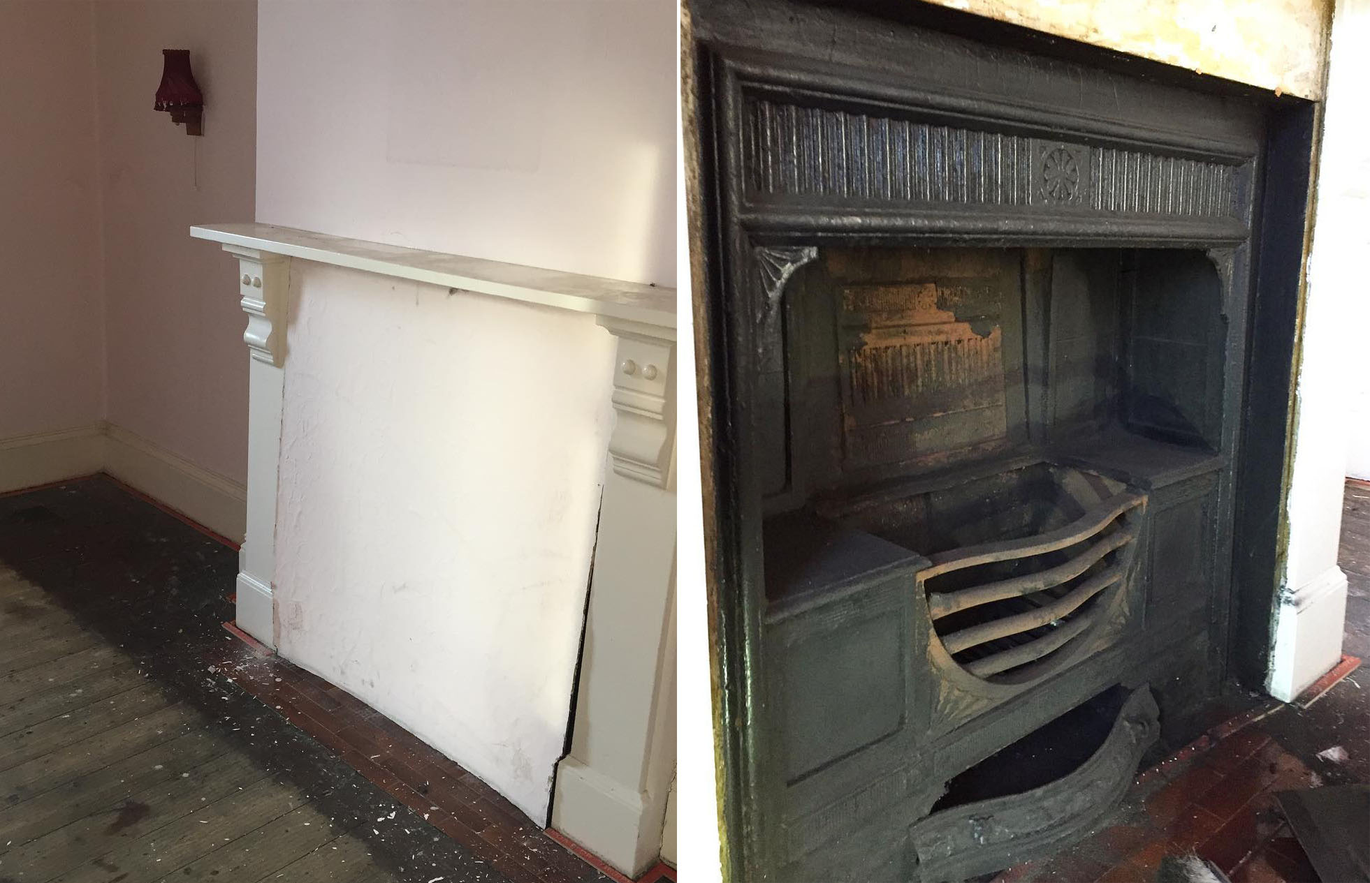 This original Victorian fireplace was hiding in plain sight. Image: @1hansom / Instagram