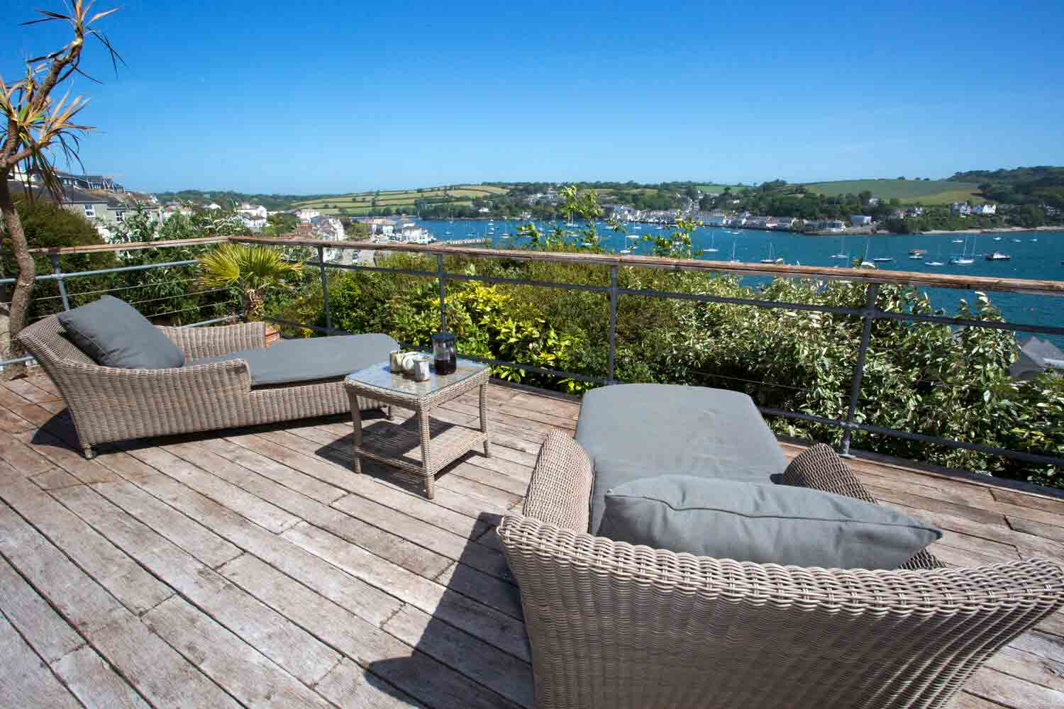 Priceless sea views can be glimpsed from the spacious deck. Image: Jonathan Cunliffe