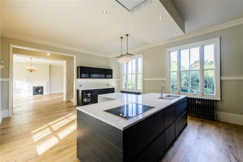 Luxury kitchen at Dancers Hill House - Win a London mansion for £13.50