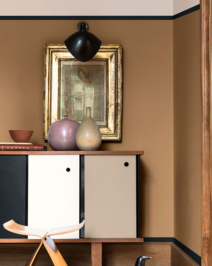 Think palette from Dulux featuring Spiced Honey - the colour of the year for 2019