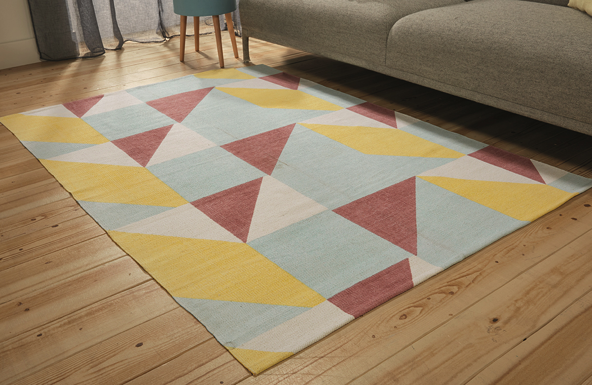 stylish geometric rug