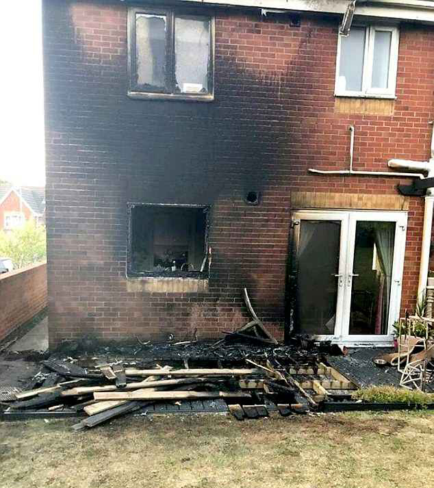 The house burned in Winson Green after a fire traveled along dry grass