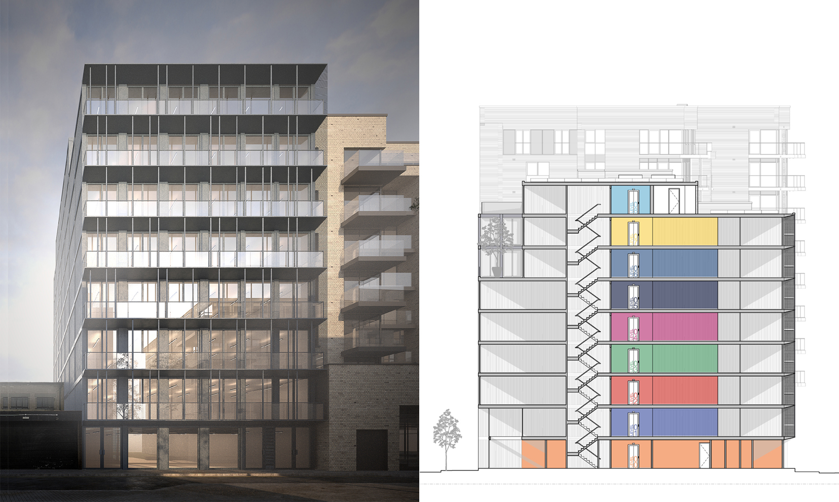 118 Vallance Road, an East London new build office development designed by Patalab, has received planning permission from London Borough of Tower Hamlets