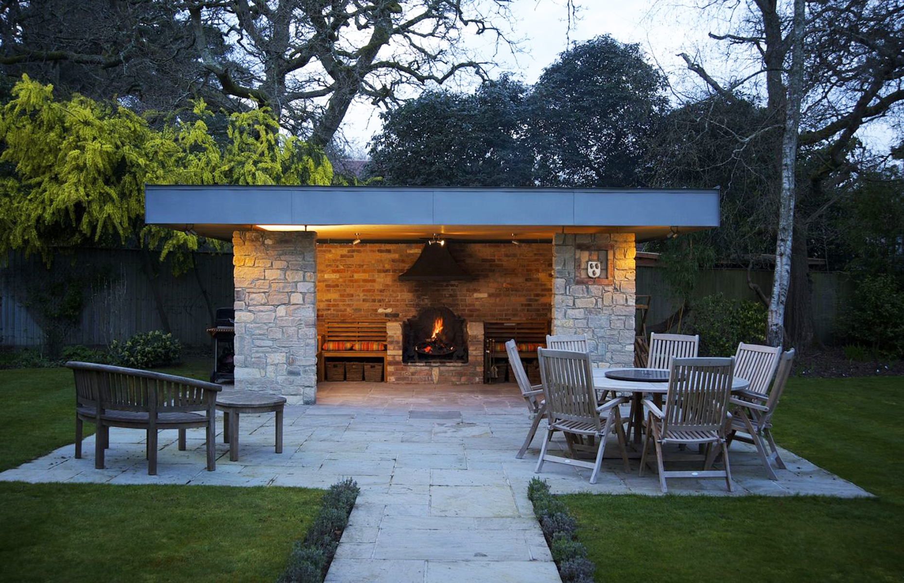 Outdoor pavillion in house up for raffle