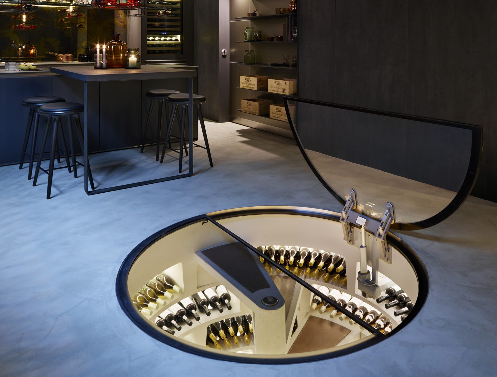 This secret store is a wine collector's dream come true. Image: Spiral Cellars