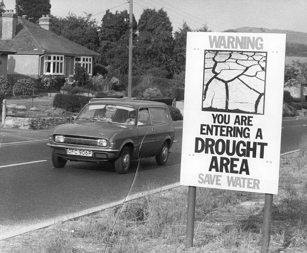 UK drought in 1976