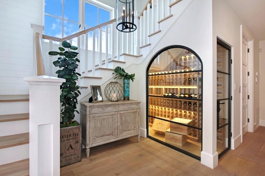 Understairs wine storage. Image: Instagram /@ryansaghian