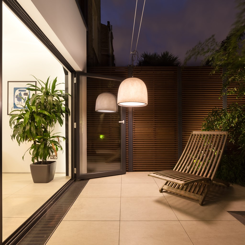 Bifolding doors onto a terrace