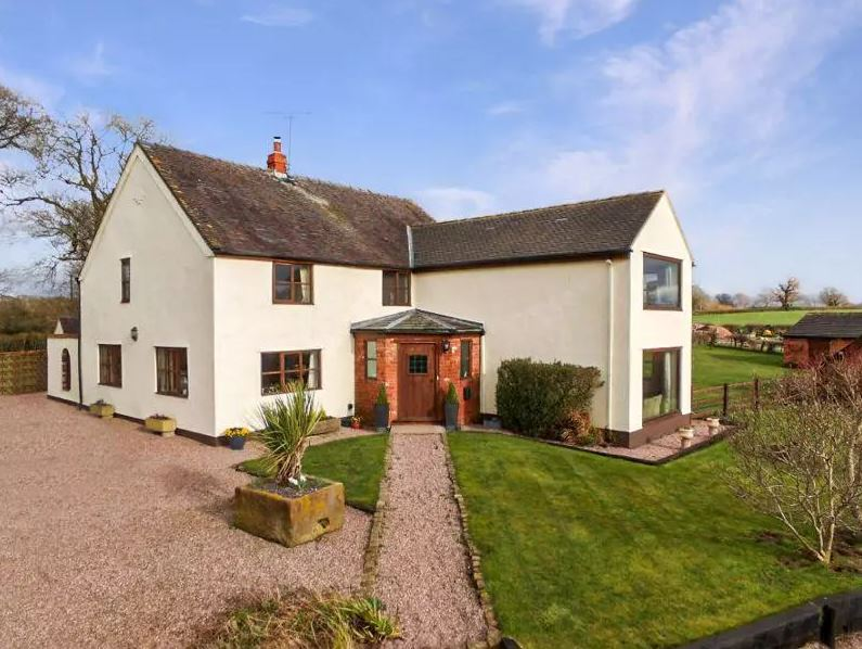 The traditional farmhouse occupies an enviable rural location. Image: OnTheMarket