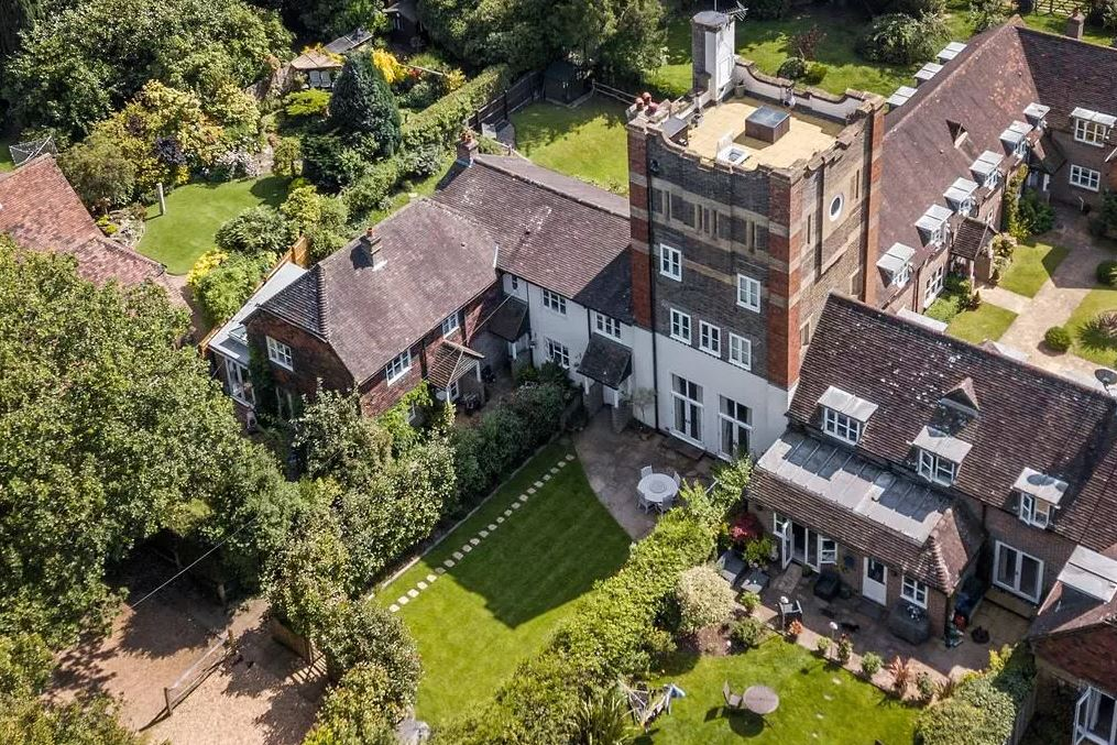 The grand turreted home has no end of wow-factor. Image: OnTheMarket
