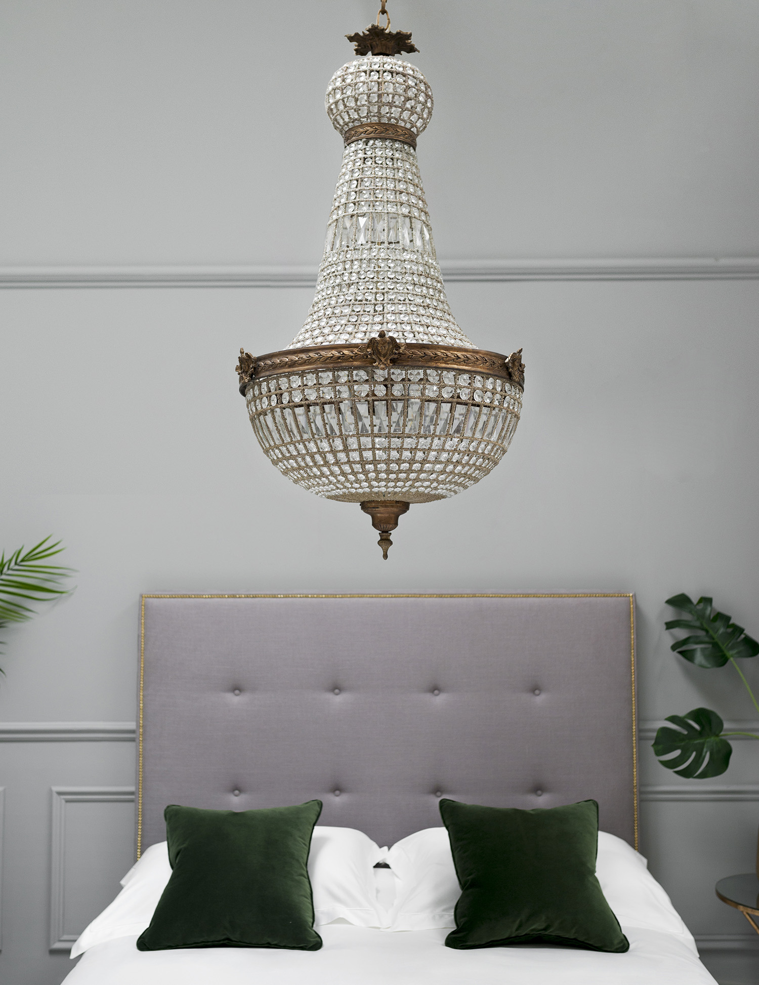 Stately empire chandelier from Sweetpea and Willow