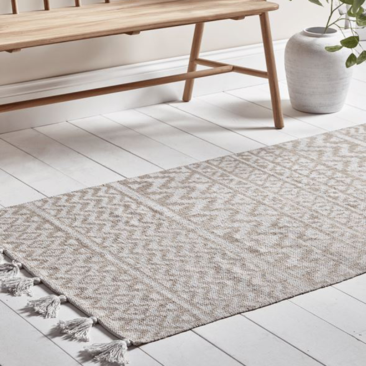 Chevron Tassel Runner, £75 ($95), Cox & Cox, UK and Europe delivery