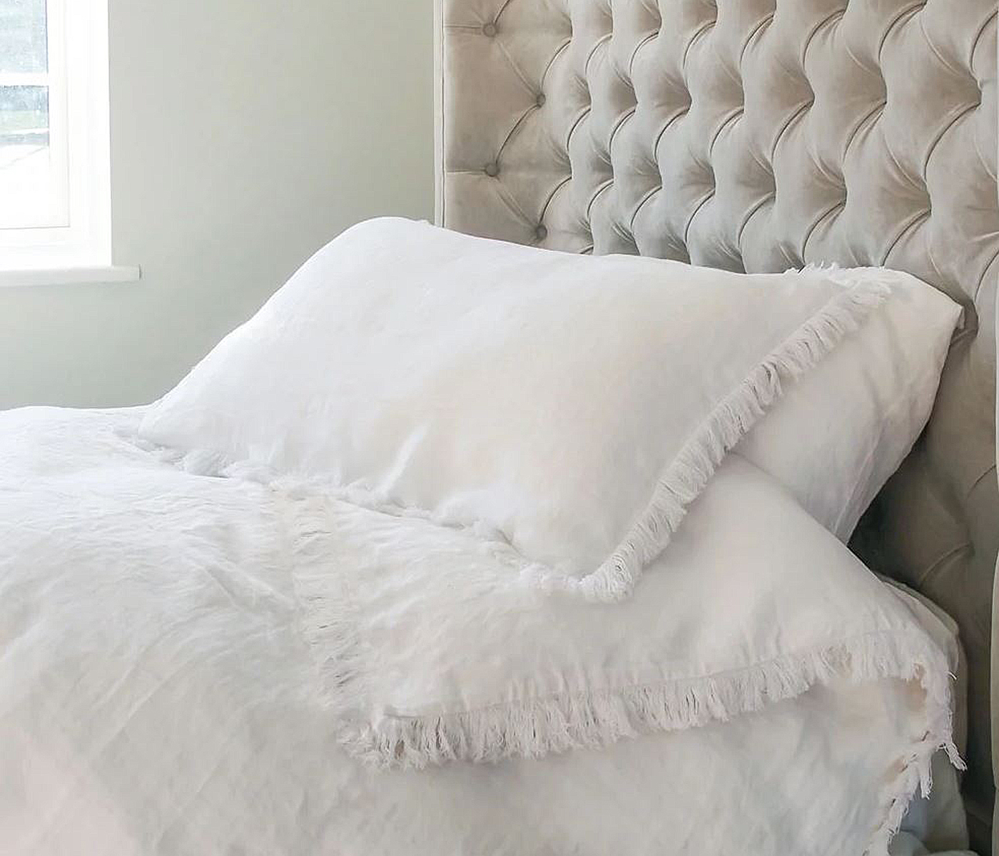 Fray Bed Linen Set, from £99 ($125), The French Bedroom Company, international delivery